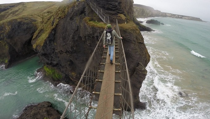 Being adaptable-Sunny on rope bridge